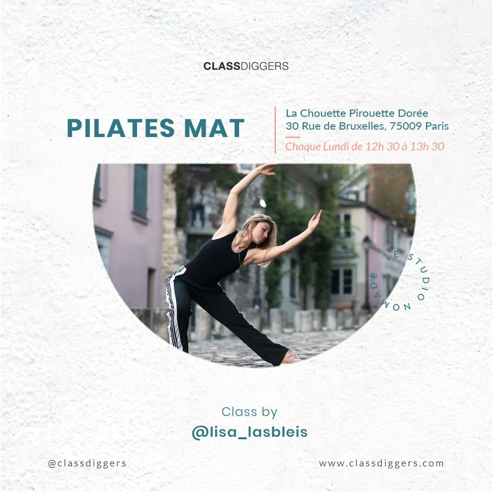 75009 - Pilates Mat avec Lisa - Chaque lundi à 12h30